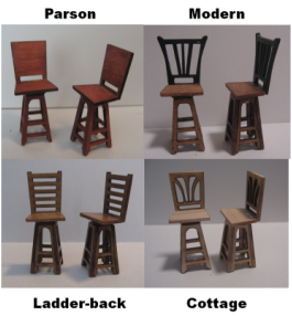 Swivel Bar Stools in Miniature
