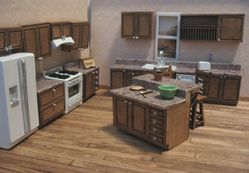 Traditional Kitchen in Dollhouse Miniature